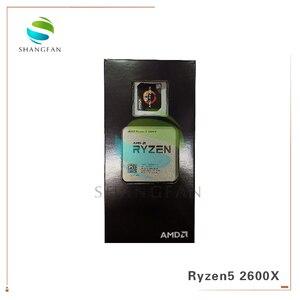 Image 3 - Nowy procesor AMD Ryzen5 2600X R5 2600X3.6 GHz sześciordzeniowy dwunastogwintowy procesor CPU 95W YD260XBCM6IAF gniazdo AM4 z wentylator chłodnicy