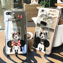 Mickey Minnie Mouse The Mirror Coque Fundas Cover Phone Cases for Apple IPhone 6 6s Plus 6plus 7 7 Plus Case Ring Fastener 5S SE