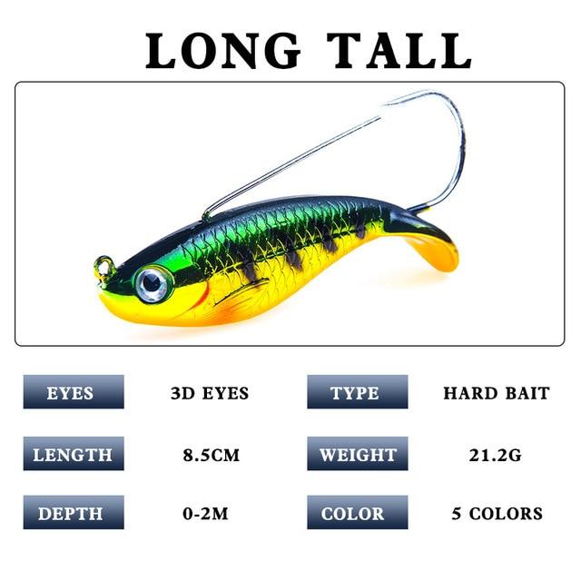 Nouveau produit 1 pièces appâts De Pêche avec crochet basse 85mm 21.2g leurres de pêche vivid écaille de poisson poissons nageur/leurre dur leurre 5 couleurs appâts artificiels