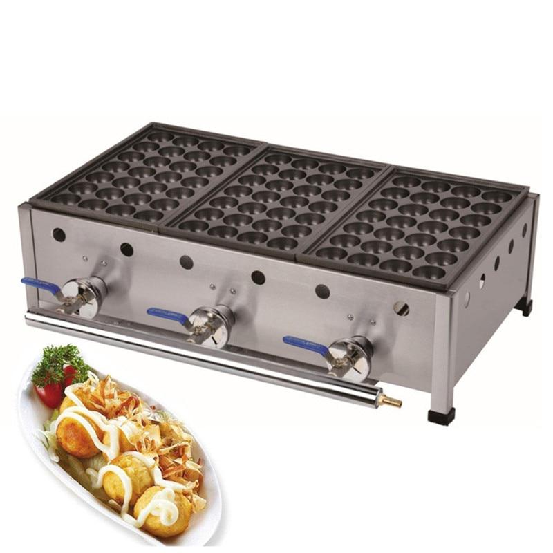Jamielin Gas type 3 plates Stainless Steel Octopus Ball Machine Takoyaki Grill Takoyaki Machine Baker
