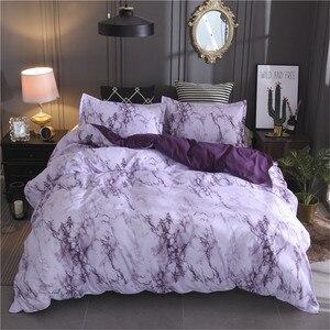 Image 5 - LOVINSUNSHINE Juego de ropa de cama de mármol, funda de edredón de doble reina, edredón, juegos de cama King AB01 #