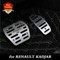 O envio gratuito de alumínio pedal auto pé pedais do carro Para A Renault KADJAR transmissão Automática AT pedais do carro 2015-2016