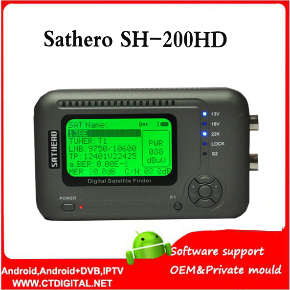Sathero SH-200HD satfinder dvb-s2 Digital Satellite Finder Meter Sat Finder 200HD High Definition USB 2.0 sathero sh-200 dvb s2 sathero sh 900hd satellite meter finder cctv in hd spectrum analyzer coaxial digital monitoring test function vs sh 910