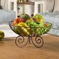 Potes de Armazenamento De ferro Prato de Frutas Cesta de armazenamento de Frutas sala de estar de Metal Fruit Basket Organizador acessórios de Cozinha decoração de Casa