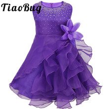 8 Color Girl Flower Dress Girls Children Embroidered Summer Bridesmaid Princess Dresses for Wedding Prom Party Girl Kids Clothes