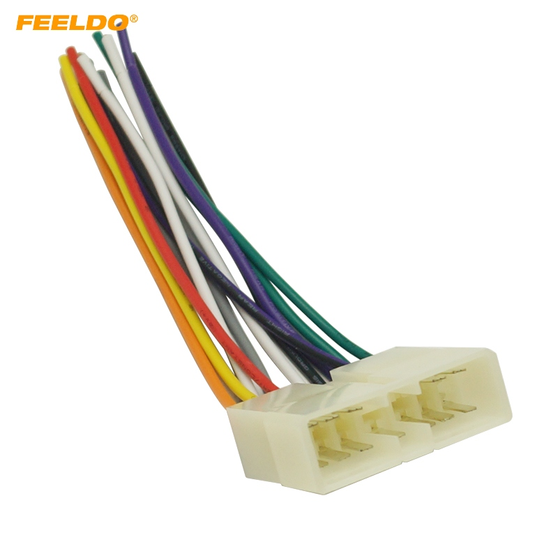 Feeldo 10pcs Car Stereo Audio Wiring Harness Adapter Plug