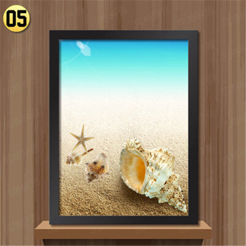 Framed wall Decoration Paintings Modern ocean beach landscape living ...