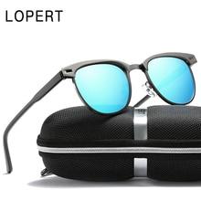LOPERT NEW Retro Polarized Sunglasses Men Brand Designer Glasses Women HD Sun Glasses Unisex Fashion Male Eyewear UV400