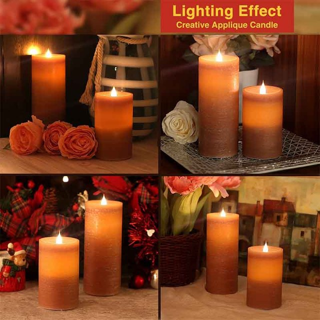 SIMPLUX SPX-000130 Led Moving Candle Flameless Candle Battery Operated with Timer Mocha & SIMPLUX SPX 000130 Led Moving Candle Flameless Candle Battery ...