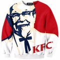 Nuevo 2017 para hombre 3d sudadera hombres y mujeres otoño/invierno moda casual clothing sudaderas de impresión de la marca kfc
