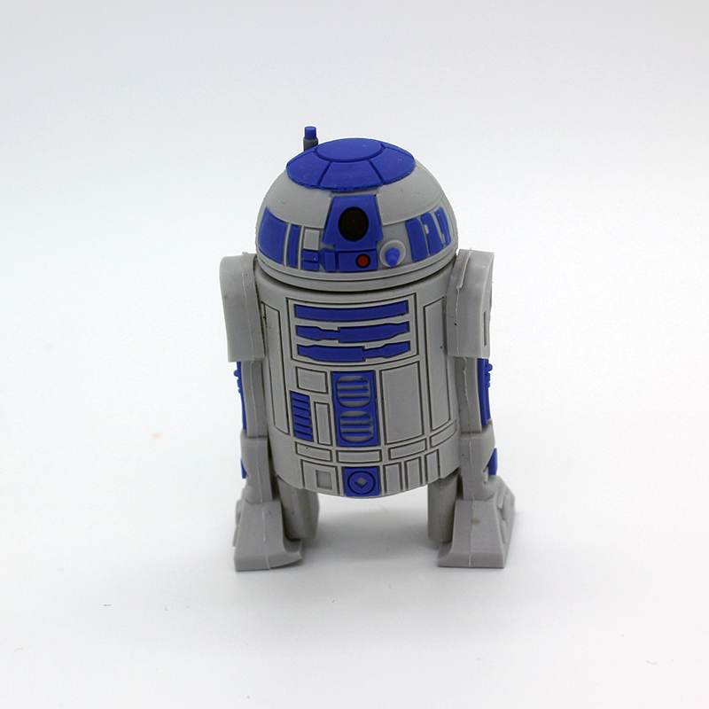 128 GB Star Wars Creative R2D2 Robot Pendrive 128GB USB Flash Drive 64GB 32GB 16GB 8GB USB 2.0 Flash Pen Drive Memory Disk Stick