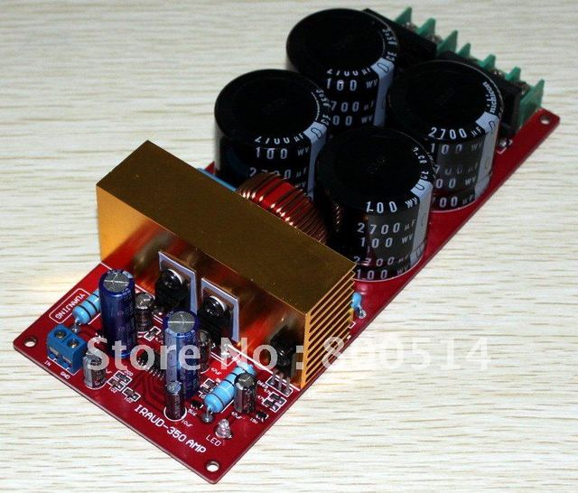 YJ-  IRAUD350 Mono Audio Power amplifier board Class D AMP board---  Assembled Amp board