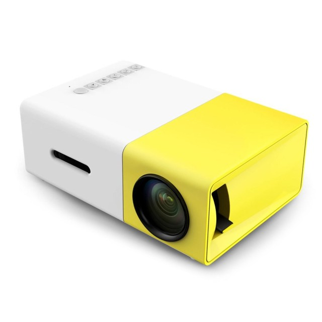 New YG300 Mini Portable LCD Projector 400-600 Lumens 320 x 240 Pixels 3.5mm Audio Interface Home Theater Projector Media Player
