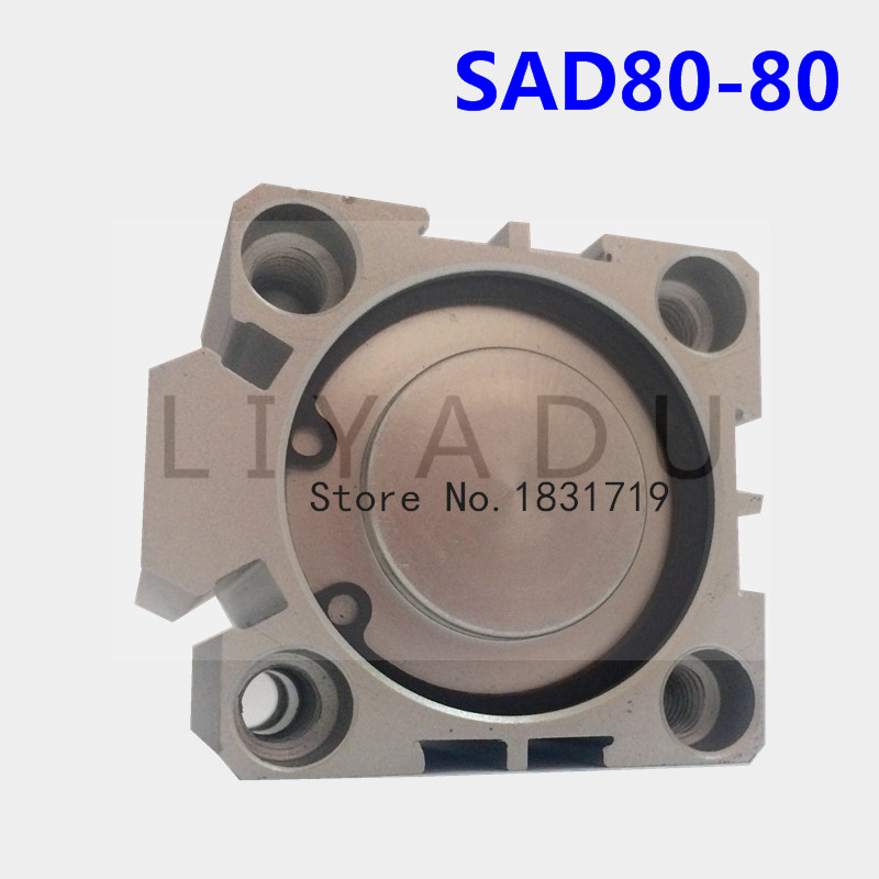 цена на SDA80-80 thin cylinder Series 80mm Bore 80mm Stroke SDA80*80 Aluminium alloy cylinder SDA80X80