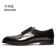 Office Dress Men Patent Leather Shoes Black Oxfords Luxury Business Wedding Handmade Lace-up Men Dress Shoes dxkzmcm handmade men flat leather men oxfords lace up business men shoes men dress shoes