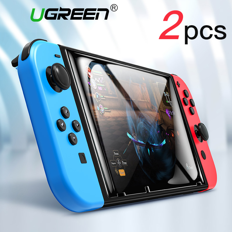 Ugreen Screen Protector for Nintend Switch 9H Tempered Glass for Nintendo Switch 3ds Ultra HD Protective Film Nintendos Switch 2sets lcd screen protectors guard film for nintend 2ds clear touch protect protective top bottom seal film for nintend 2ds