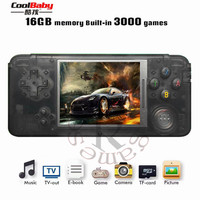 2018 New Portable Video Handheld Game Console Retro 64 Bit 3 Inch 3000 Video Game Retro Handheld Console to TV RS 97 RETRO GANE