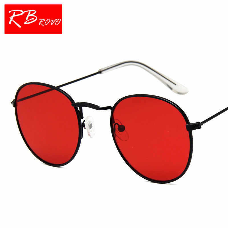 2218cc083d98e ... RBROVO 2019 Vintage Oval Classic Sunglasses Women Men HD Eyeglasses  Street Beat Shopping Mirror Oculos ...