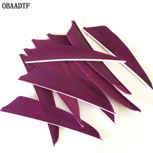 50Pcs 3inch Arrow Feather Vanes purple Wood Fiberglass Carbon  Bow and Shooting Outdoor Accessories