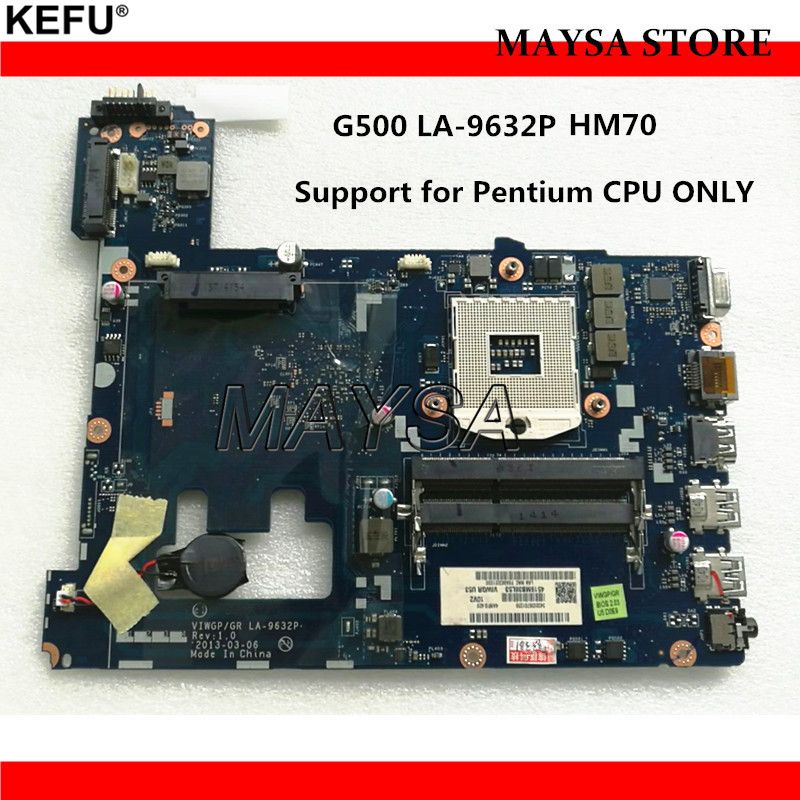 VIWGP/GR LA-9632P laptop motherboard fit for Lenovo G500 Notebook PC mainboard, SJTNV HM70 chipset (For Pentium Processor) free shipping new viwgp gr la 9632p card for lenovo g400 notebook motherboard hm70 for pentium cpu only