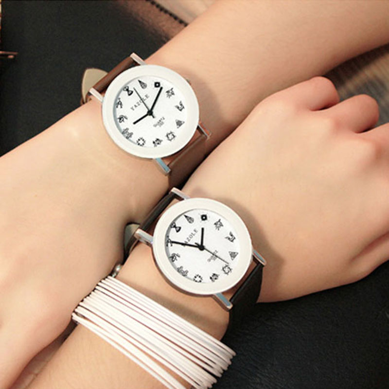 2017 New Hot Sale Yazole Fashion Wristwatches Student Quartz Watch Women Young Girl Leather Straps Watches Hour Relogio Feminino 2017 new top fashion time limited relogio masculino mans watches sale sport watch blacl waterproof case quartz man wristwatches