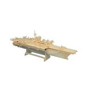 Aircraft Carrier Ship  Model 3D Wooden Puzzle Children and Adult's Educational Building Blocks Puzzle Toy