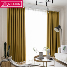 MISSION 90-95% Shading Rate Blackout Curtain Drape Panel Noise Reducing Thermal Insulated Window Drape Blinds for Living Room contrast panel drape front marled coat