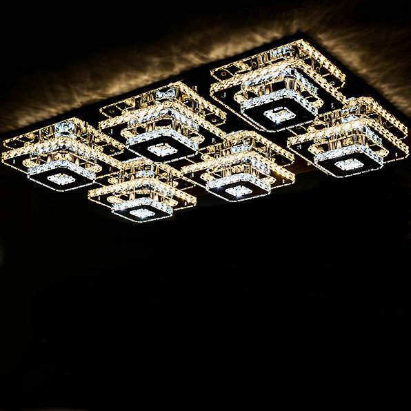 Luxury design stainless steel LED ceiling light  foyer living room  study room  bed room lighting fixture free shipping