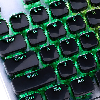 Low Profile Keycap Set for Cherry MX Backlit Mechanical Keyboard Crystal Edge Design with Key Puller Removal Tool