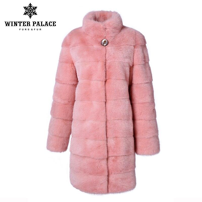 スタンド襟良質 WINTER 毛皮のコートの女性の自然な黒コート mlnk