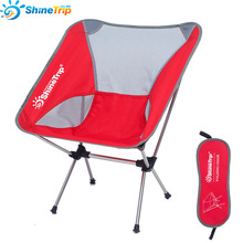Outdoor camping folding chair Moon chair Fishing chair Aeronautical aluminum alloy chair Super portable цена 2017