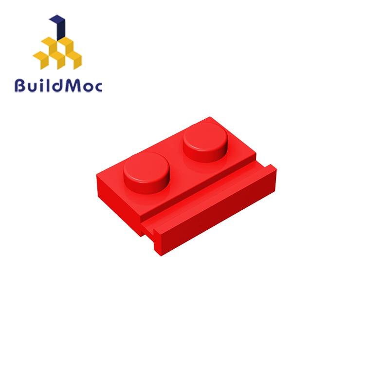 BuildMOC Compatible Assembles Particles 32028 1x2For Building Blocks Parts DIY LOGO Educational Tech Parts Toys
