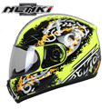 NENKI Full Face Motorcycle Helmet Capacete da Motocicleta Cascos Moto Casque Kask 816d Racing Riding Men Women Helmet with Scarf