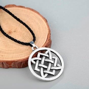 CHENGXUN Vintage Slavic jewelry Women Men Lada Star Pendant Necklace Adjustable Rope Chain Choker Collier Protection Amulet 1