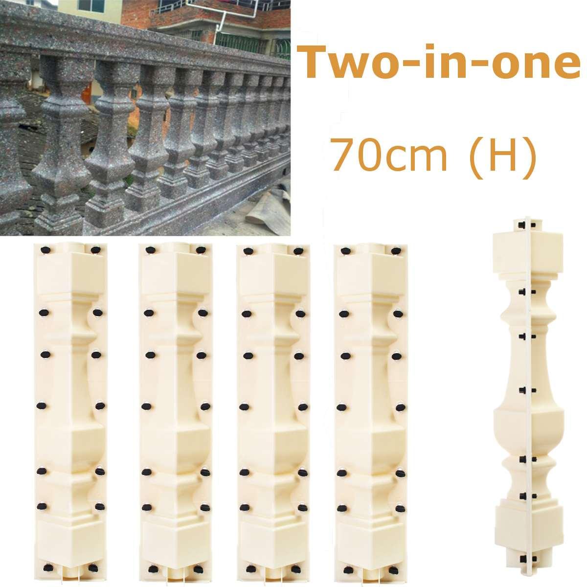 2 sztuk 70cm płot ogrodowy formy kolumna rzymska formy betonu cementu balustrady tynk formy kostki brukowej balkon basen DIY budynku w Ogrodzenia  treliaż i bramy od Dom i ogród na