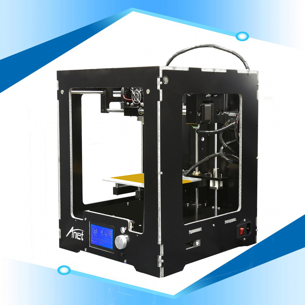 Anet A3S Full Aluminum Plastic Frame Assembled 3D Printer Highest Precision Easy Operation DIY Reprap i3 3d Printer Metal Hotbed