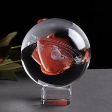 Laser Engraved Solar System Ball, 3D Miniature Planets Model Sphere Glass Globe Ornament