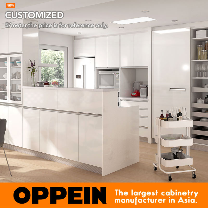 Kitchen Cabinet Reviews Consumer Reports: Guangzhou Modern White HPL Kitchen Cabinet OP16 HPL06-in