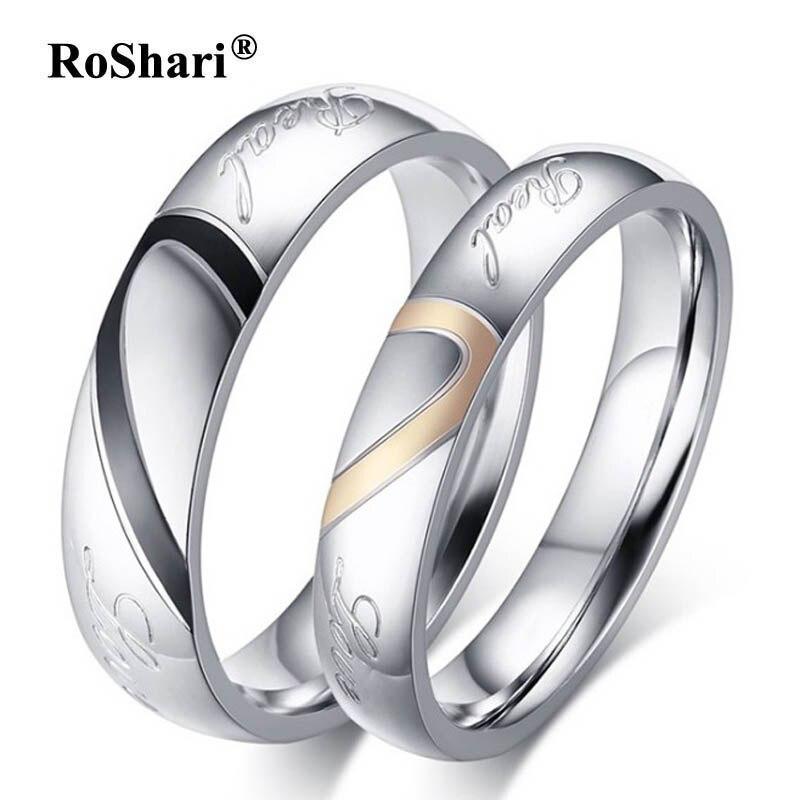 Roshari Heart Puzzle His Queen Her King Rings For Women Men