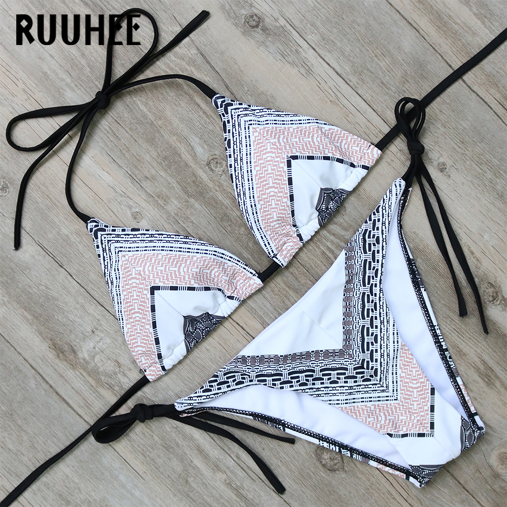 RUUHEE Latest Bikini Swimwear Swimsuit Women Sexy Bikini Set Bathing Suit Biquini Push Up Beachwear 2017 Maillot De Bain Femme