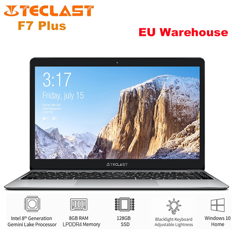 Teclast F7 Plus Notebook 14.0 Inch Windows 10 Intel Gemini Lake N4100 Quad Core 1.1GHz 8GB RAM 256GB SSD HDMI 6500mAh Laptop