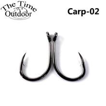 100pcs High Carbon Steel Black Carp Fishing Hooks Barded Fishhooks Carp Anzuelos