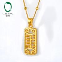 CAIMAO 24 K из чистого золота Abacus дизайн изысканный любитель подарок настоящие хорошие драгоценности 999 3d жесткого процесса золота Модный кулон