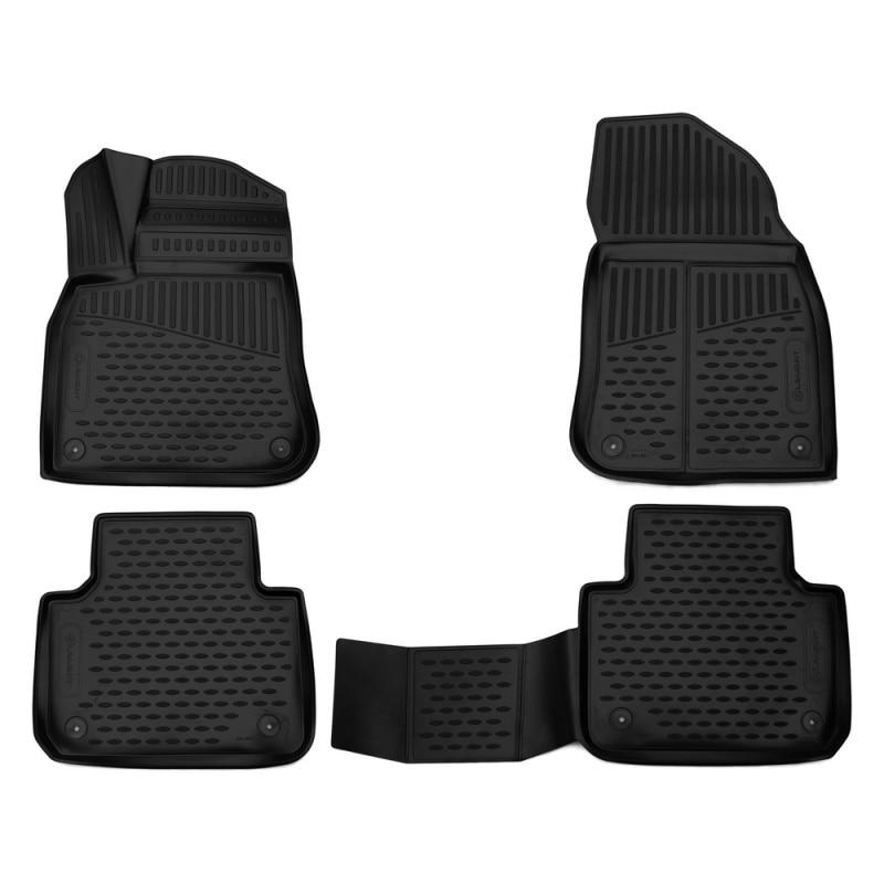 Car Mats 3D salon fit For VOLKSWAGEN Touareg, 2018-> внед... 4 PCs (polyurethane) mat trunk fit for for volkswagen touareg 2018 внед 1 pcs polyurethane