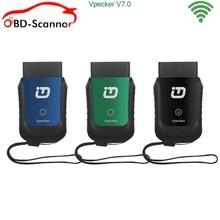 V8.3Mini Vpecker fácil diag Herramienta de Diagnóstico OBD2 Escáner de Diagnóstico Auto con WIFI skoda ecu programador Envío Libre de DHL