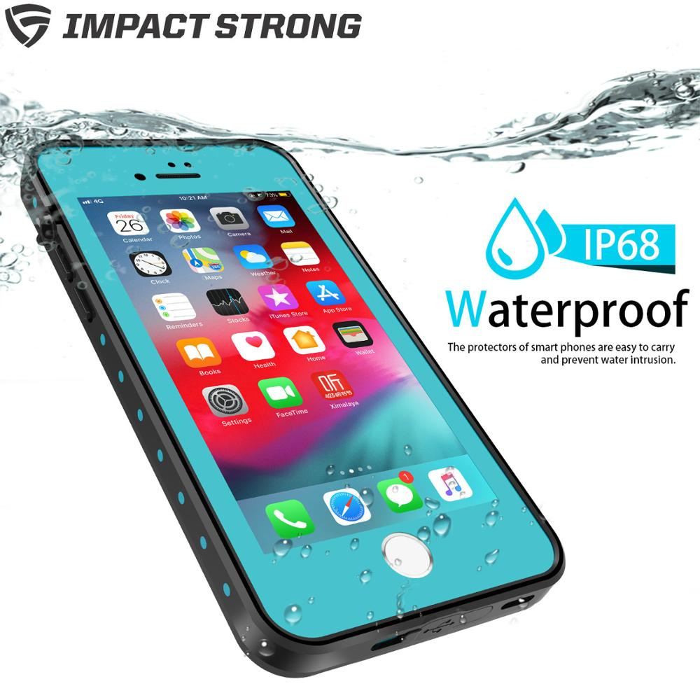 ImpactStrong Waterproof Case [Fingerprint ID Compatible] Slim Full Body Protection for iPhone 7