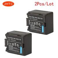 JHTC 1500mAh Bateria Da Câmera Para Panasonic VW VBG070 VW VBG130 VW VBG260 SDR H20 SDR H28 SDR H258 HDC SD1 2pcs|Baterias digitais| |  -