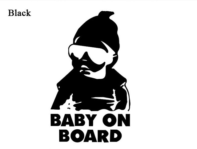 New design baby on board carlos hangover funny car vinyl sticker decal custom made car stickers