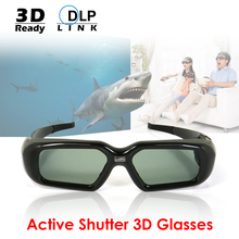 Infrared DLP Link 3D Glasses USB Rechargeable Active Shutter 3D Glass for Universal 3D Ready DLP Projector Movie Game Video TV