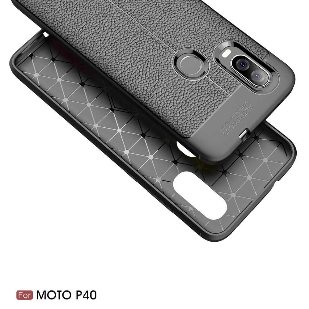 Motorola Moto P40 oyun durumda Moto P40 durumda silikon yumuşak arka kapak telefon kılıfı için Moto P40 oyun bir vizyon not güç P 40